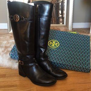 TORY BURCH Black Calista30MM Boot FinniVeg Leather